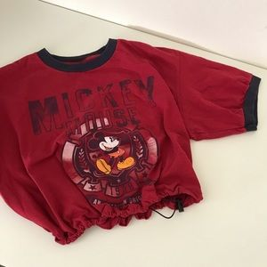 Mickey Mouse drawstring crop tee
